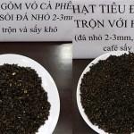 Phế phẩm cà phê nhuộm bột pin được trộn vào hồ tiêu