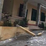 Hòa Bình: Bị cột bê tông trong trường học rơi trúng, 1 nam sinh lớp 8 tử vong thương tâm