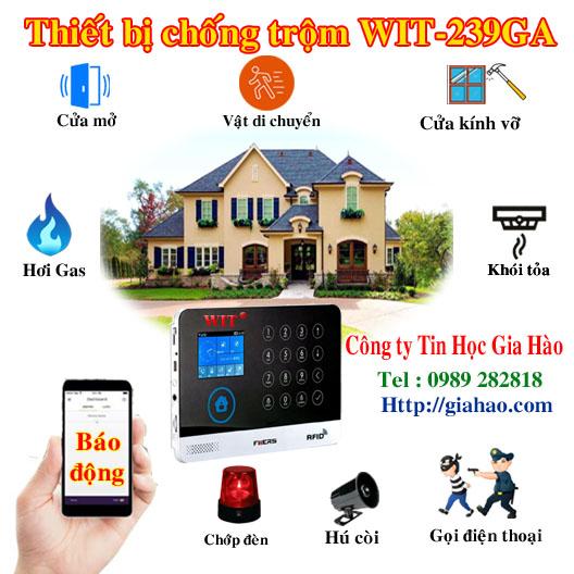 Mô hình hoạt động của thiết bị chống trộm dùng App điện thoại WIT 239GA của công ty Tin Học Gia Hào