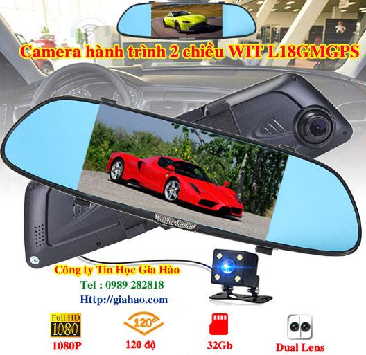 Camera hành trình xe hơi dạng kính chiếu hậu WIT L16 của công ty Tin Học Gia Hào được trang bị màn hình cảm ứng, camera sắc nét và góc nhìn rộng