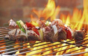 mangiare all'aperto: grigliata