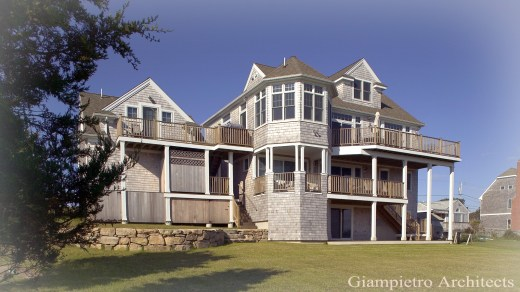 House with Decks and Bay Windows