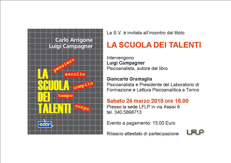 Incontro con Luigi Campagner: La scuola dei Talenti