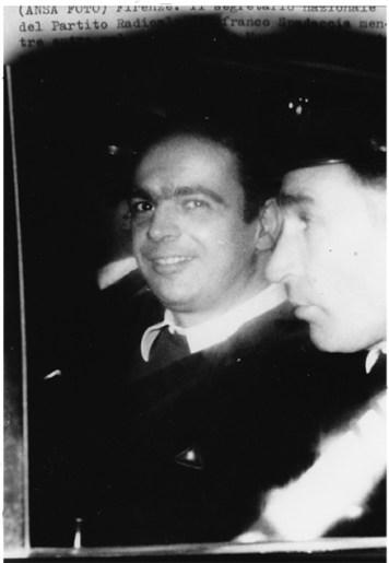 Roma, Gennaio 1970, Trasferimento da Regina Coeli al Carcere delle Murate, nell'auto dei Carabinieri