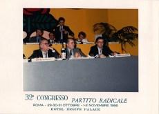 Congresso radicale 1986 con F.Rutelli, M. Teodori, E.Bonino, S.Stanzani, L. Strik Lievers, R. Cicciomessere