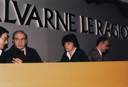 Congresso radicale 1986 con Roberto Cicciomessere, Adelaide Aglietta e Alessandro Tessari