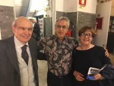 Gianfranco con la moglie Marina e Caetano Veloso