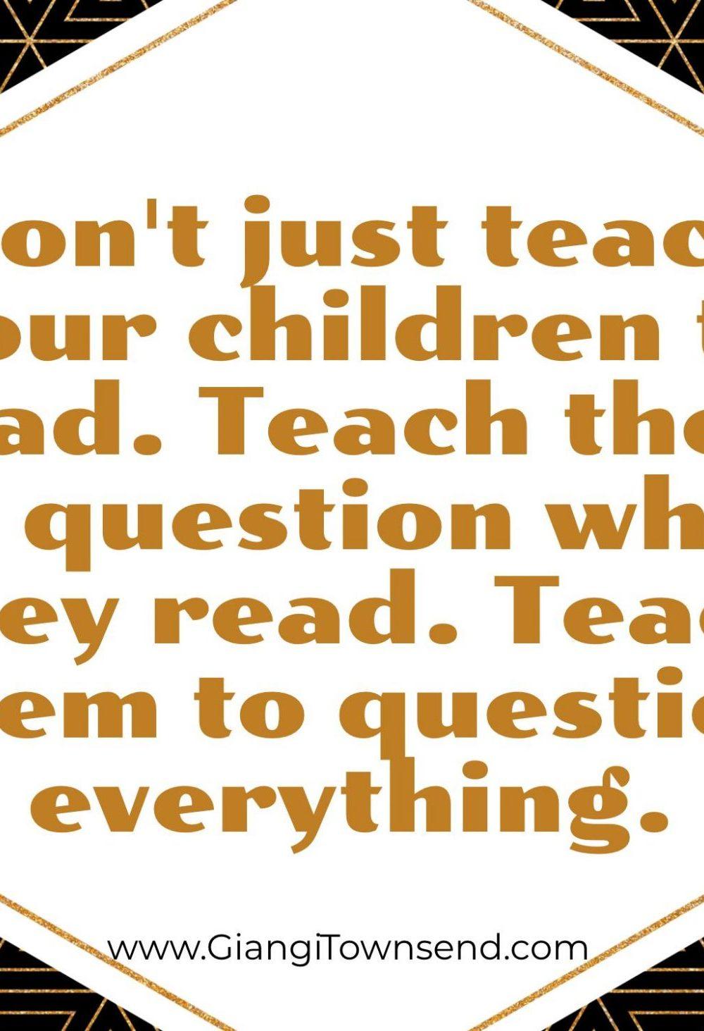 Don't Just Teach