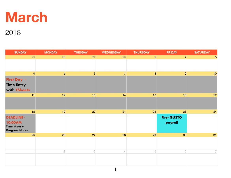 new timesheet payroll calendar giang solutions