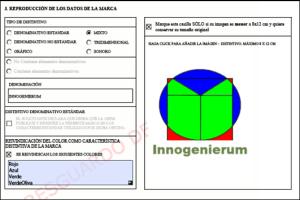 Extracto de la solicitud de la marca Innogenierum