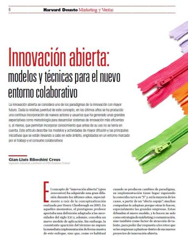 Open Innovation en Harvard Deusto