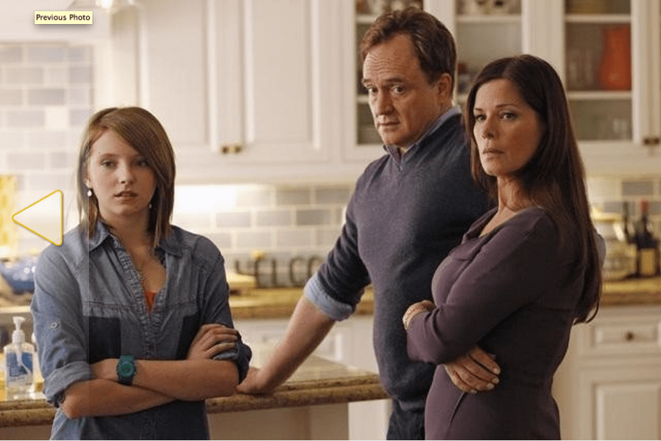 "Still of Marcia Gay Harden, Bradley Whitford and Gianna LePera in Trophy Wife (2013) Photo by Peter ""Hopper"" Stone - © 2013 American Broadcasting Companies, Inc. All rights reserved."