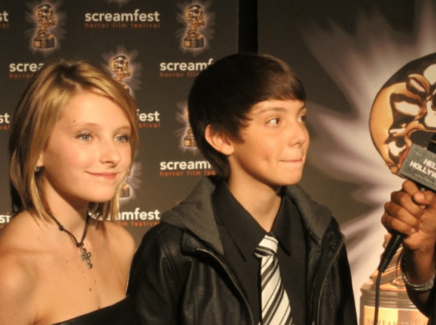 Gianna LePera being interviewd at Screamfest 2011 for the Premier of Vamperifica