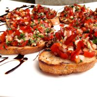 Fresh Bruschetta with Balsamic Reduction