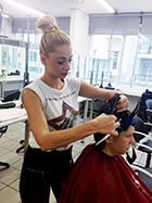 Η Αλεξάνδρα Μαρτίν ήρθε από την Κύπρο για να σπουδάσει στην σχολή κομμωτικής Gianneri Academy στην Θεσσαλονίκη