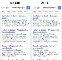 Google replaces URLs with breadcrumbs in search results