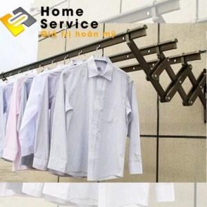 Giàn phơi quần áo xếp ngang nhập khẩu Hàn Quốc