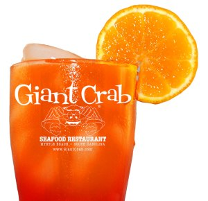 Giant Crab Seafood Souvenir Glass