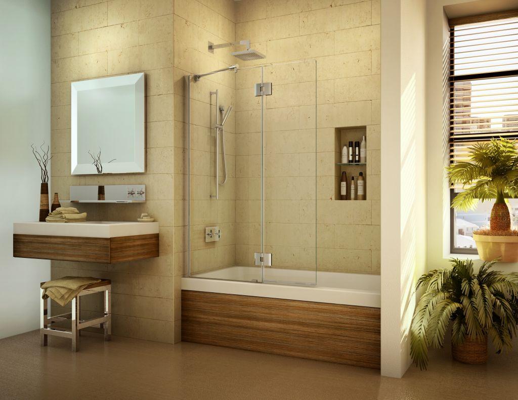 Frameless Tub Enclosures Giant Glass Mirror