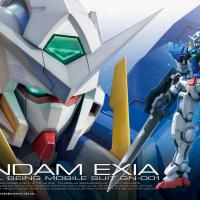 RG Gundam Exia Box & Promo Art