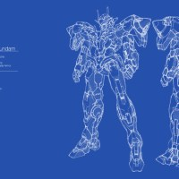 00 Gundam Blue Print Wallpaper