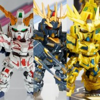 SDCS Unicorn Gundam 01, 02, and 03 Gunpla Shown at C3AFA TOKYO 2018