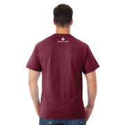 Giants Tomb Trading Co – Jerzee – Mens – T Shirt – Vintage Maroon – Back