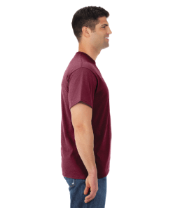 MEN'S T-SHIRT | GTTC DRI-POWER ACTIVE | - Vintage Maroon - Side