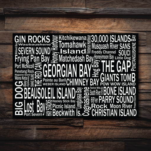 Canvas Print | 30,000 Destinations | Giants Tomb Trading Co - Georgian Bay
