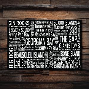 Canvas Print | 30,000 Destinations | Giants Tomb Trading Co - Georgian Bay