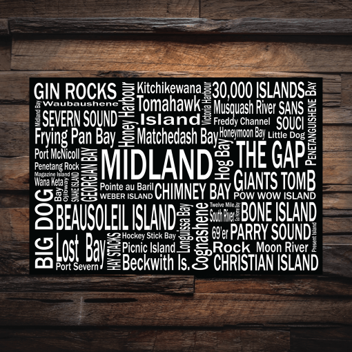 Canvas Print | Georgian Bay Destinations | Giants Tomb Trading Co - Midland
