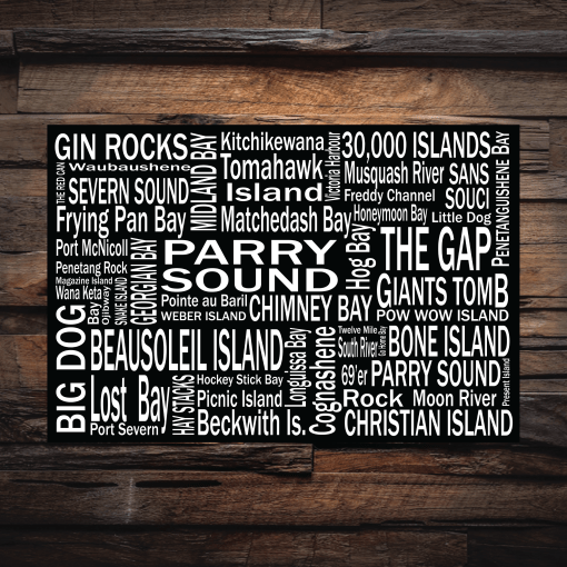 Canvas Print | 30,000 Destinations | Giants Tomb Trading Co - Parry Sound