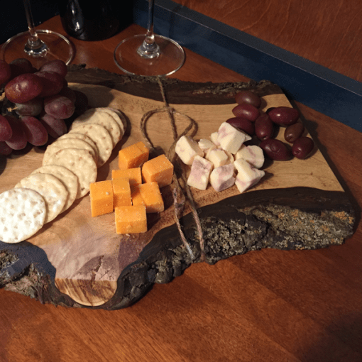 Cheese Board | Live Edge | Black Walnut | Giants Tomb Trading Co