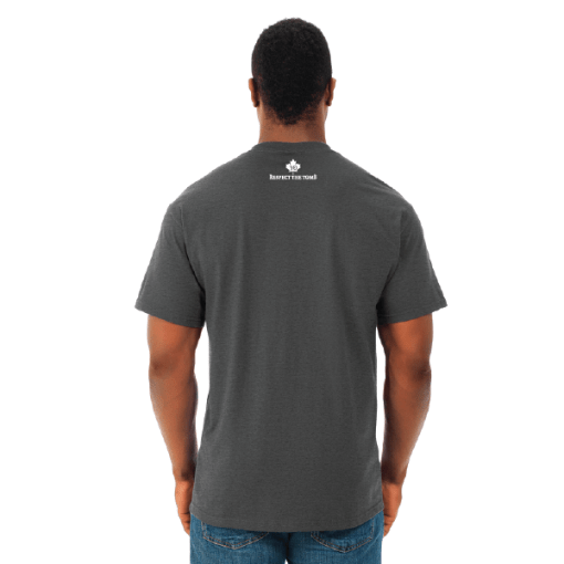 MEN'S T-SHIRT | GTTC HD COTTON - Black Heather - Back