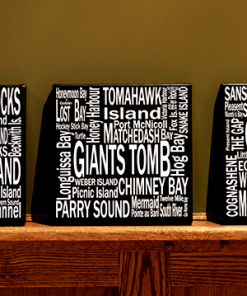 Canvas Print | 30,000 Destinations Square | Giants Tomb Trading Co - 4