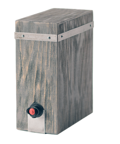 Boxed Wine Cover Driftwood - Wrought Iron