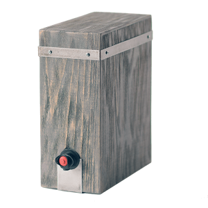 Wine Box Cover - Driftwood - Wrought Iron