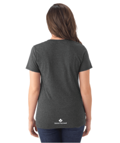 WOMEN'S T-SHIRT V-NECK | GTTC TRI-BLEND - Black - Back