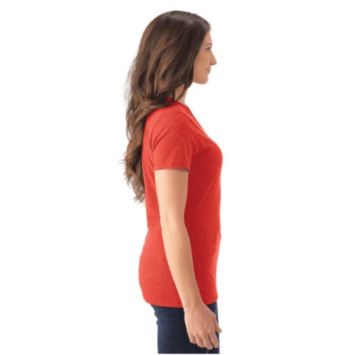 WOMEN'S T-SHIRT V-NECK | GTTC TRI-BLEND - Red - Side