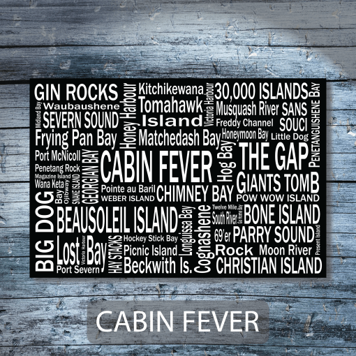 Personalized Canvas Print | Georgian Bay Destinations | Giants Tomb Trading Co - Cabin Fever