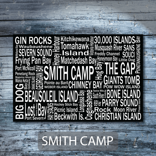 Personalized Canvas Print | Georgian Bay Destinations | Giants Tomb Trading Co - Smith Camp