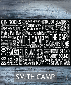 Personalized Canvas Print | 30 Thousand Destinations | Giants Tomb Trading Co - Smith Camp