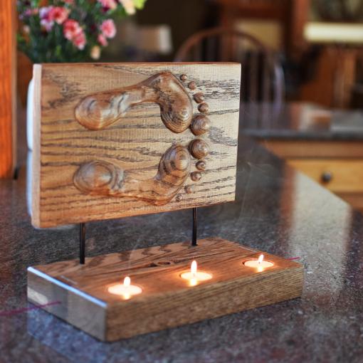 Footprint Candle Incense Holder