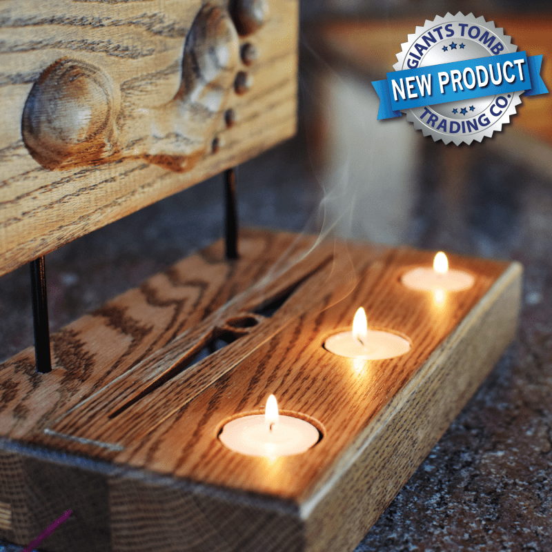Footprint Candle Incense Holder