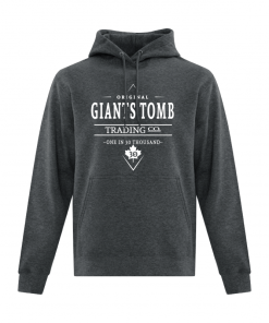 Hoodie | Unisex | Active Blend | Dark Heather | Logo: Original G.T.T.C. - Front