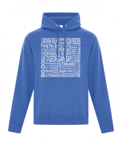 Women's Hoodie | Men's Hoodie | GTTC Active Blend - - H_Royal Front Destinations