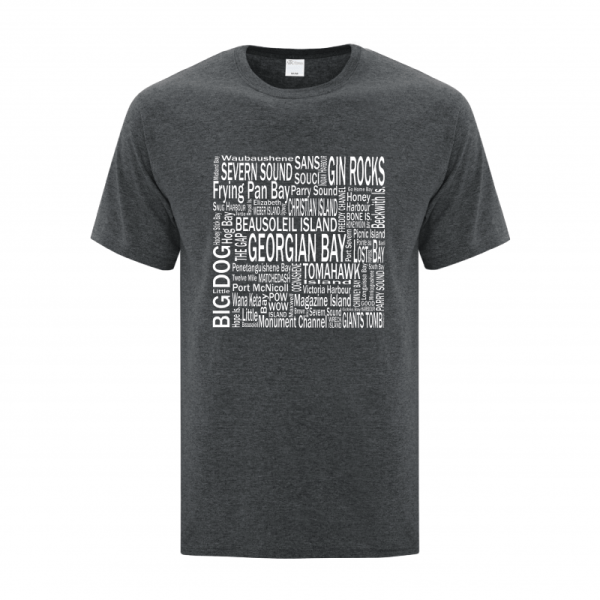 Men's T-Shirt | GTTC Active Blend | D_H_Gray Dest Front_Destinations