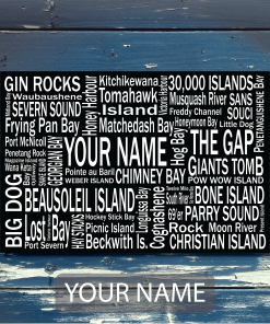 Personalized Canvas Print | Georgian Bay Destinations