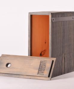Boxed Wine Cover Driftwood Vitis Back