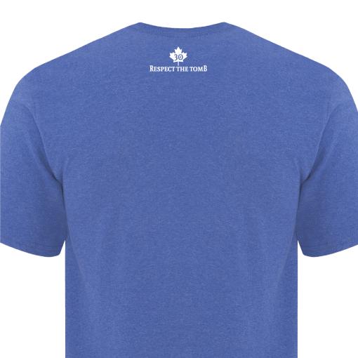 GTTC Active Blend Men's T-Shirt Heather Royal Destinations Back